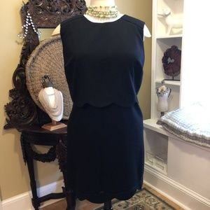 Oasis - NWT Size 20 - Black scalloped Dress